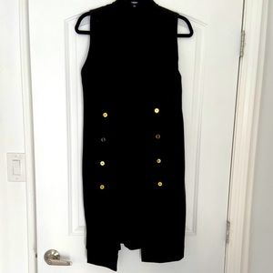 Premise vest dress, black, size 12